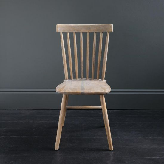 Shaker Dining Chair Aged Weathered Elm Traditional Kitchen Seat Indoor Seating