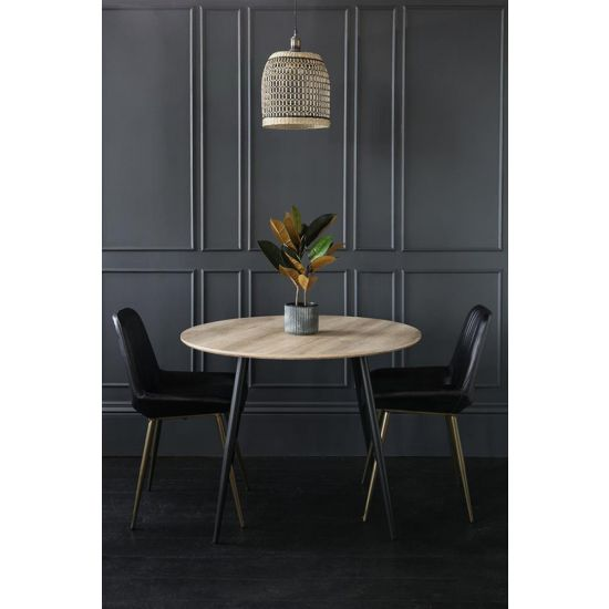 Kingston Dining Table Wood Black Wood Kitchen 120 x 120 x 76
