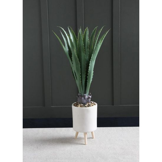 ALOE VERA ARTIFICIAL PLANT TREE 116 CM IN FOOTED CERAMIC POT