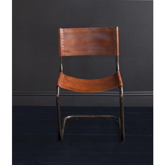 CAPRI SLING BACK LEATHER DINING CHAIR