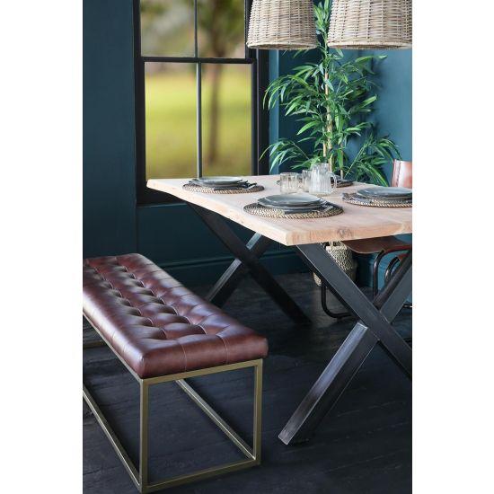 Natural Edge Acacia Dining Table 150 x 90 cm