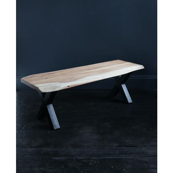 Natural Edge Acacia Bench Seat 180 x 45 cm