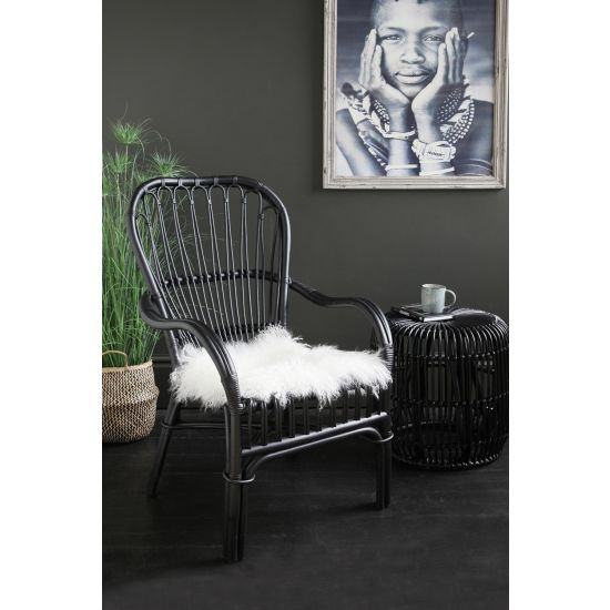 Portofino Black Rattan Arm Chair
