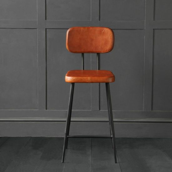 Memphis Bar Stool Tan Black 66cm