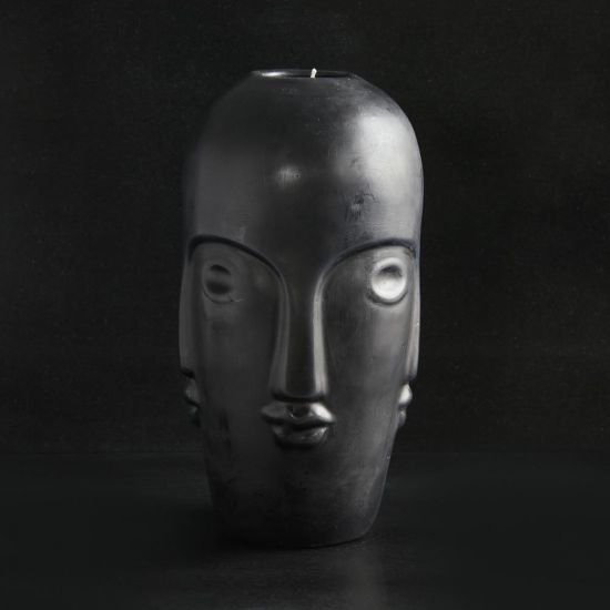 Tozi Large Head Candle Multi Face Design