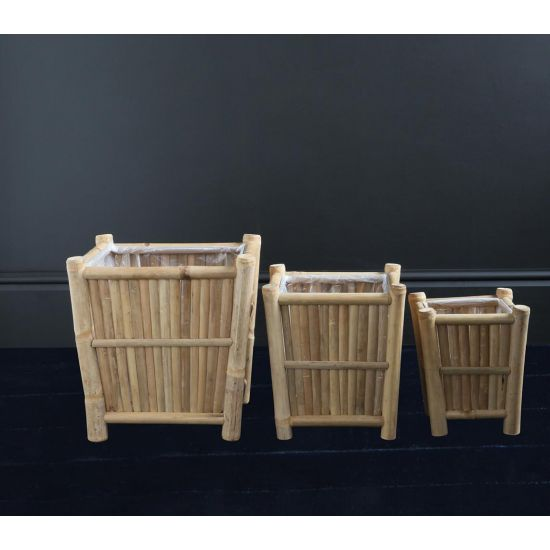 BAMBOO PLANTER SET