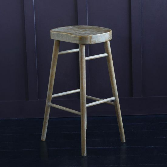 SHAKER BAR STOOL, Weathered Elm, 76 CM