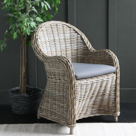 Rattan Colonial Arm Chair