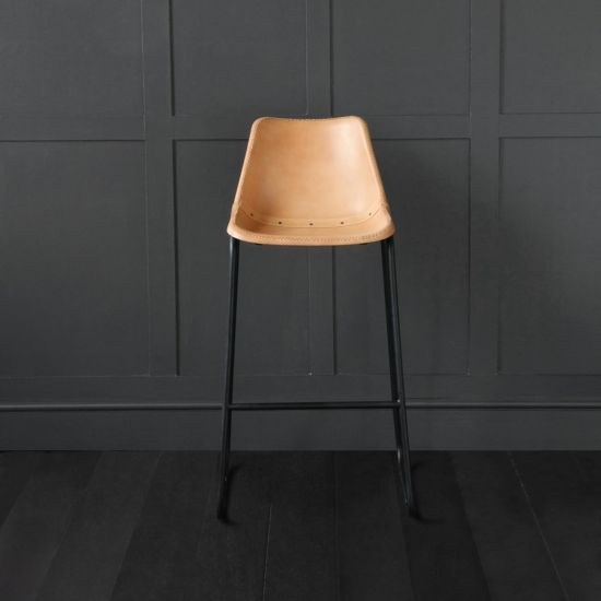 ROAD HOUSE BAR STOOL, HONEY, 75CM