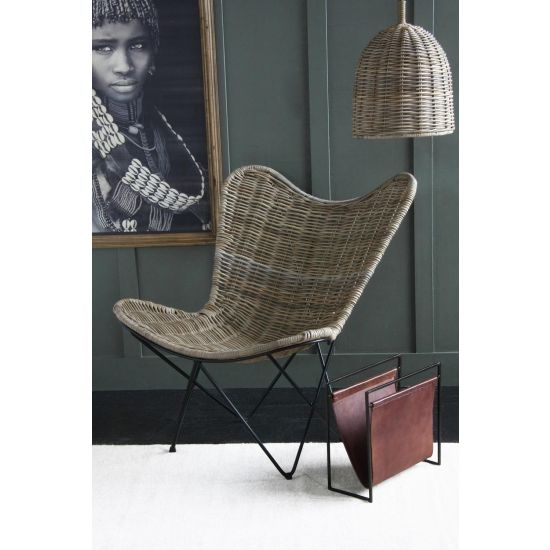 Rattan Butterfly Chair - a large statement occasional chair