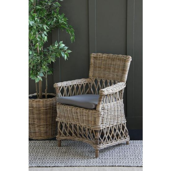 Rattan High Back Arm Chair