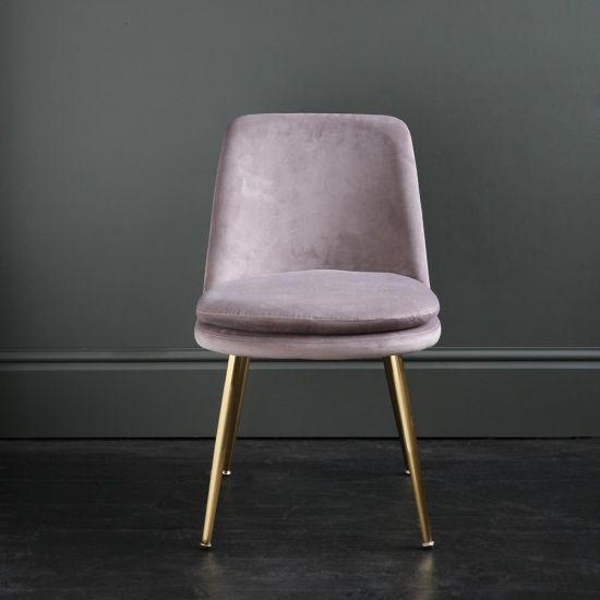 The Chelsea – Velvet Dining Chair – In Mink