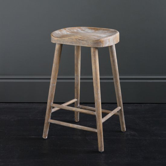 Shaker Bar Stool in - 66 cm Elm