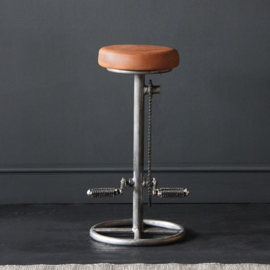 Industrial Pedal Stool With Plain Seat