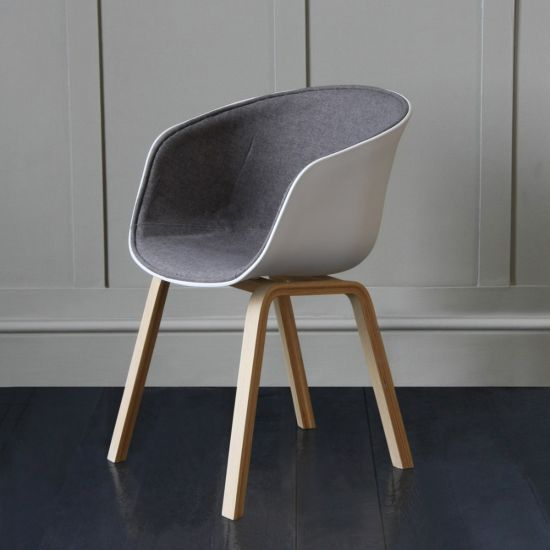 Portobello Tub Chair Upholstered In Grey Fabric