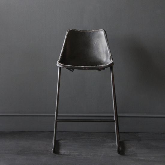 Road House Bar Stool, Black Seat , 67cm
