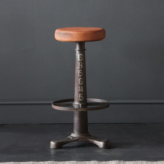 The Singer Industrial Bar Stool, 75cm Seat Height