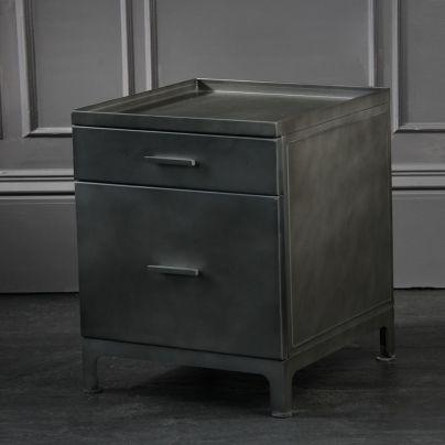 Ollie Pedestal Drawer Side Table