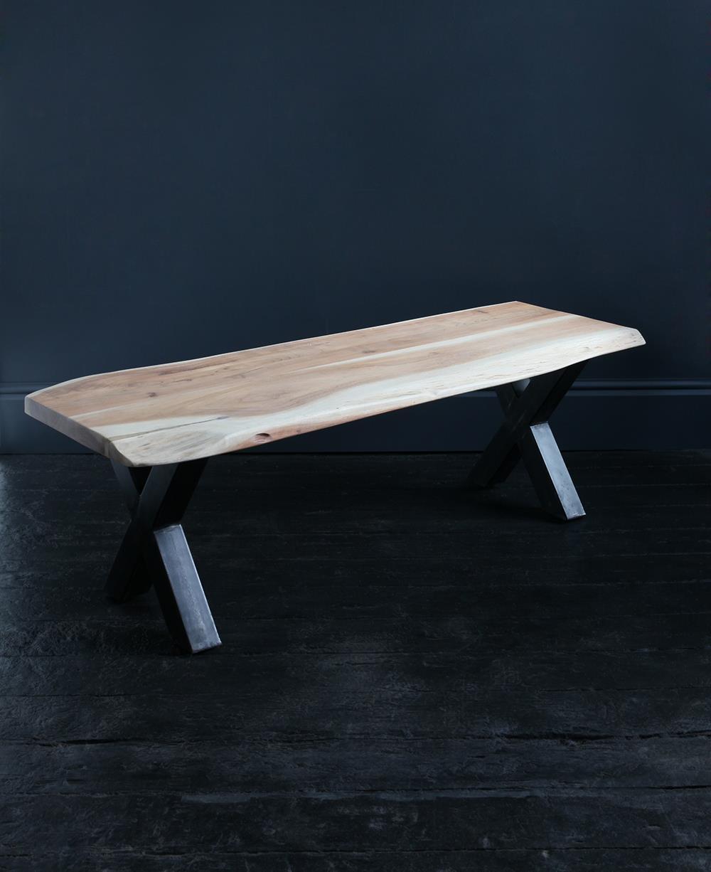 Natural Edge Acacia Bench Seat 180 x 45 cm