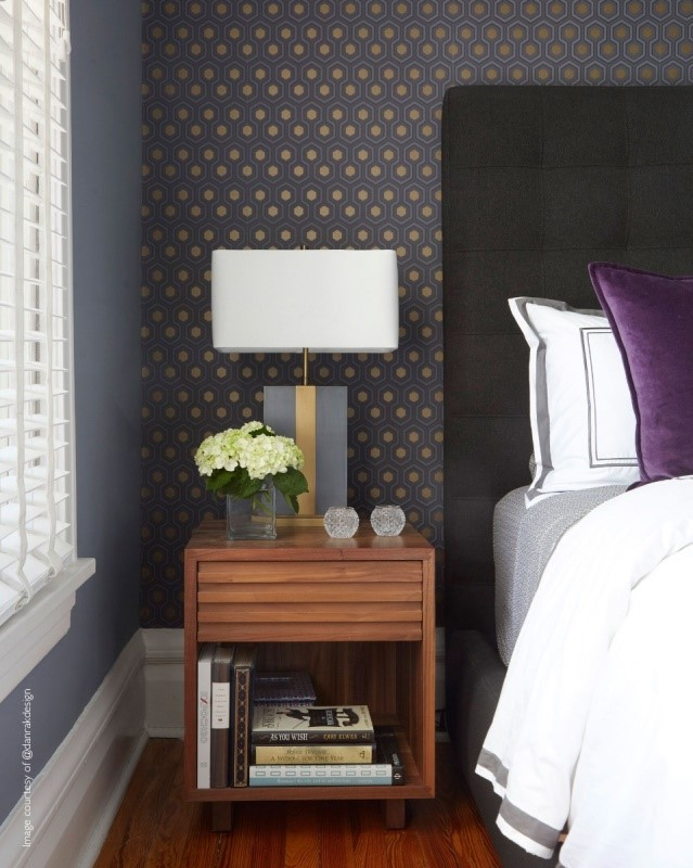 Cole & Son Contemporary Restyled Wallpaper, Hicks Hectagon, Black/Gold/Grey