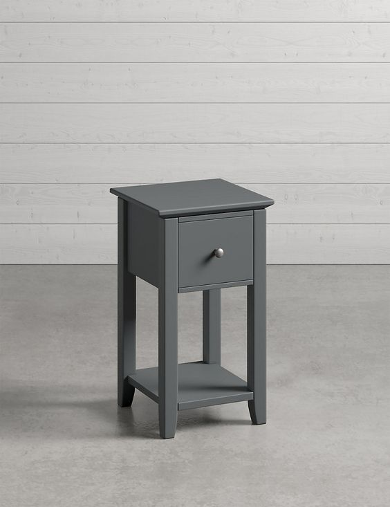 Compact designs are often a winner when it comes to bedside tables.