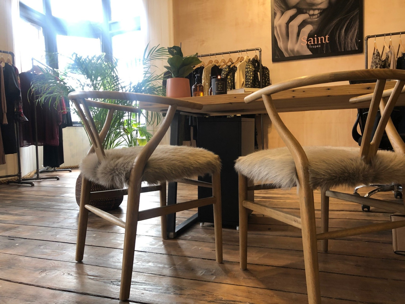 There's always room for our Wishbone Chairs! They're such a popular option.