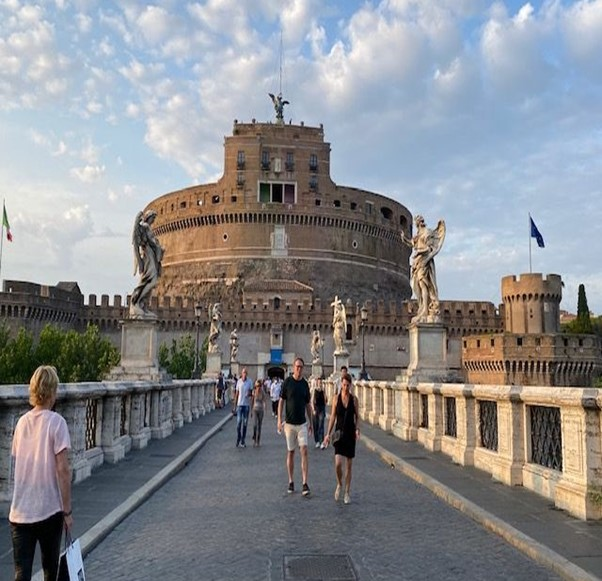 The stunning Castel Sant'Angelo, also known as Hadrian's Mausoleum. Originally built as a resting place for Emperor Hadrian, it was also once the tallest building in Rome.