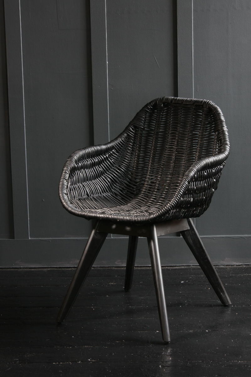 Anyone for a Black Rattan Solo Dining Chair?