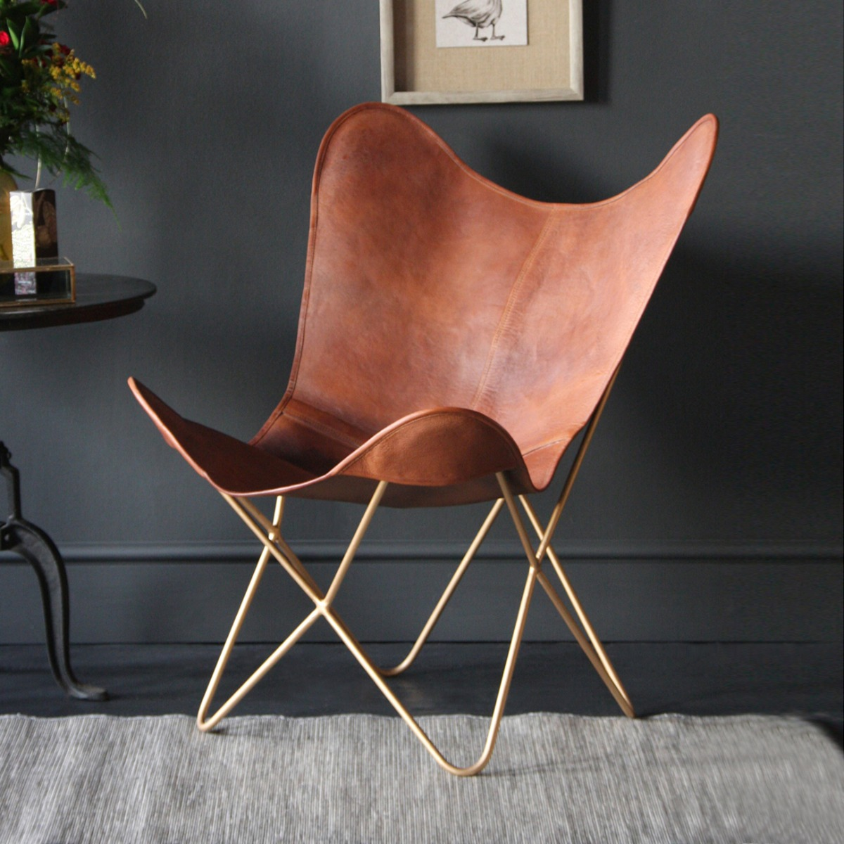 Our Butterfly Chair makes a great vintage option for the home.
