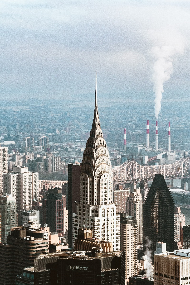 The Chrysler Building in New York City is the finest example of glorious Art Deco architecture.
