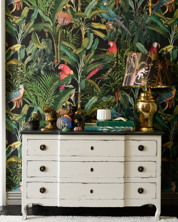 Dreaming of distant, tropical lands? We don't blame you. Our Parrots of Brasil Wallpaper is hyper realistic!