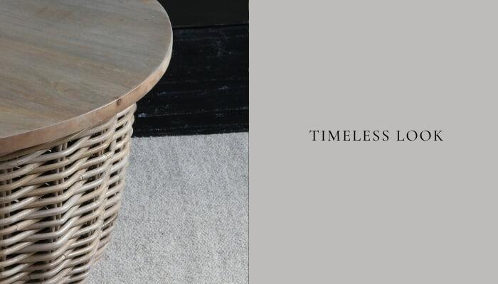 Rattan furniture looks timeless